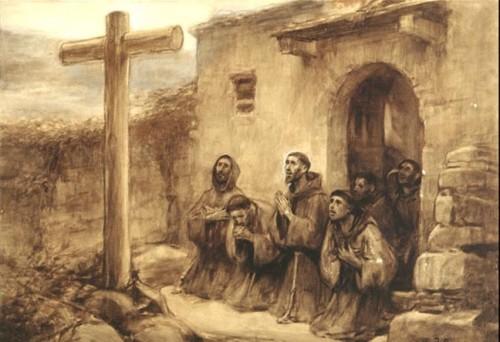 franciscanos orando