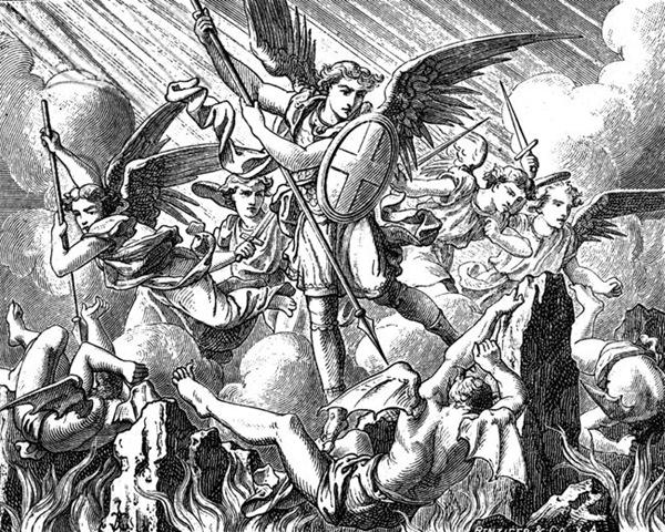 Angels And Demons Battle Art