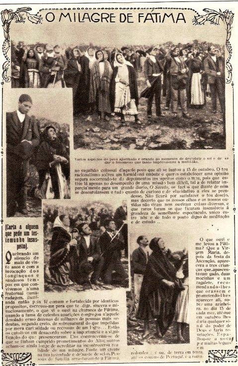 milagro del sol en fatima 1917
