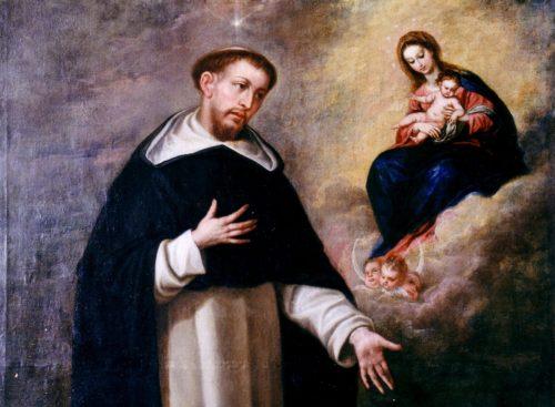 Santo Domingo y la Virgen María