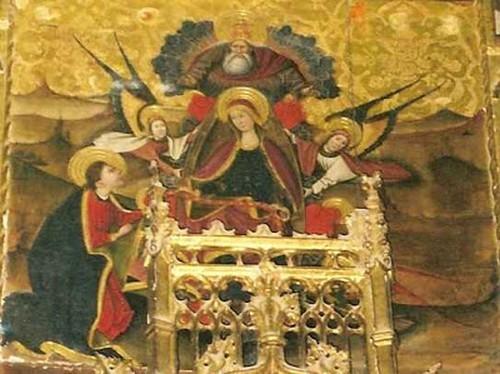 La Virgen entrega el cíngulo a Sto Tomás