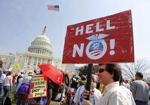 oponentes al obamacare