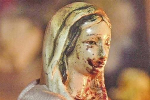 virgen que llora sangre: