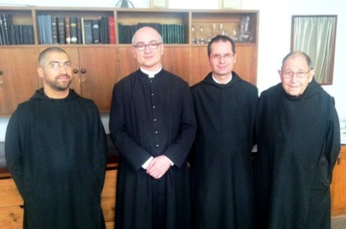 Padre Fortea en Monasterio Benedictino de Chile