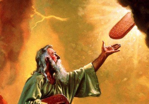 moises recibe 10 mandamientos