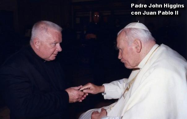 Padre John Higgins con Juan Pablo II