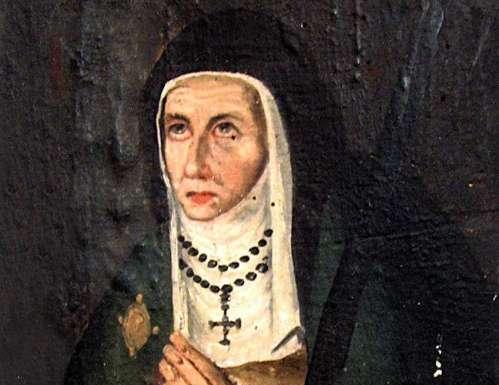 Sor Mariana de Jesus Torres en cuadro de epoca