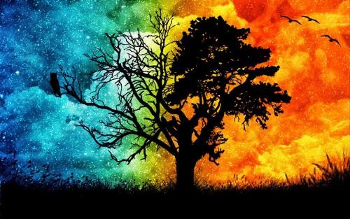 arbol genelogico de dos colores
