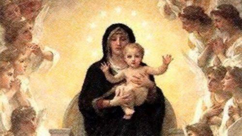 virgen maria con el niño