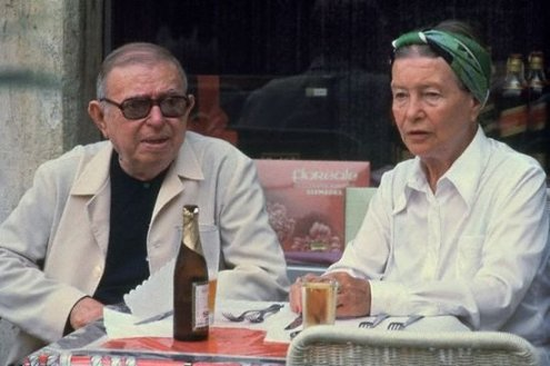Jean Paul Sartre y Simone de Beauvoir
