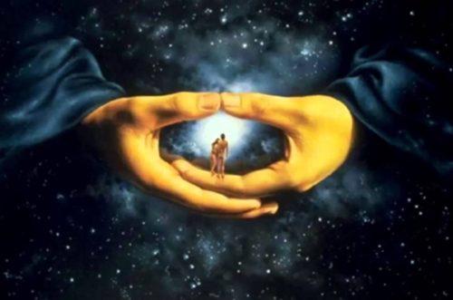 hombre en el universo sabiduria
