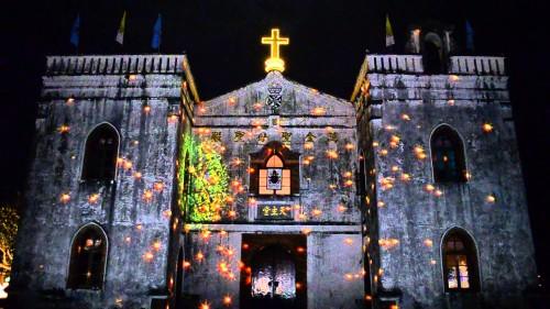 basilica de wan jin iluminada