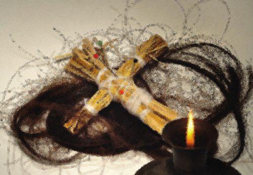 cruz y pelo estilo vudu
