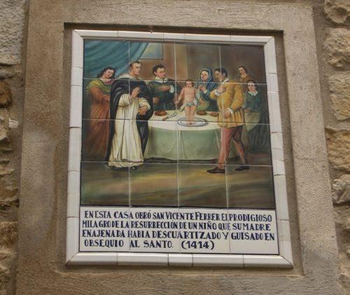 Placa sobre la Resurrección de un niño