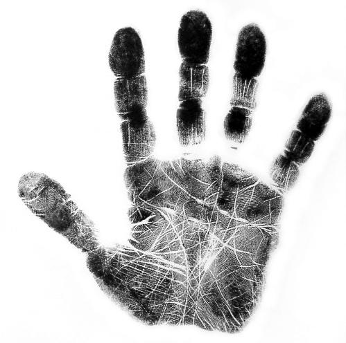 huella de una mano