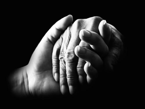 compasion manos que se toman fondo