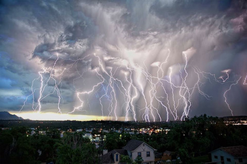 luces de tormenta en colorado