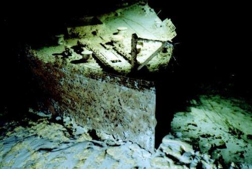 restos del titanic bajo el mar