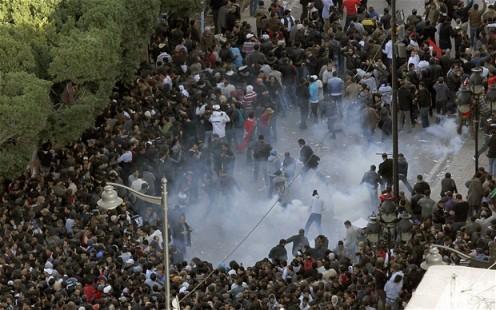 disturbios en tunez