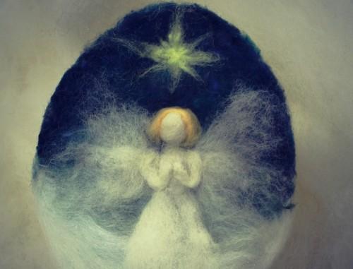 dibujo de angel orando fondo