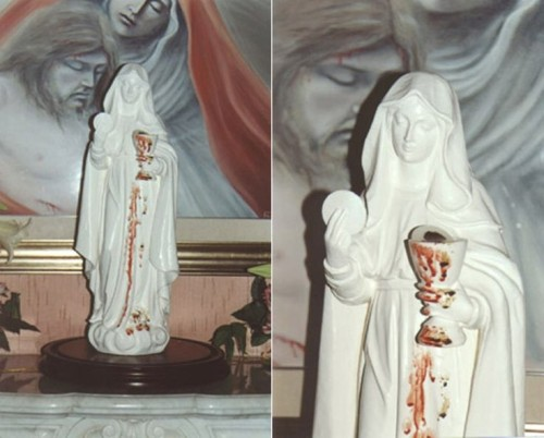 estatua madre de la eucaristia