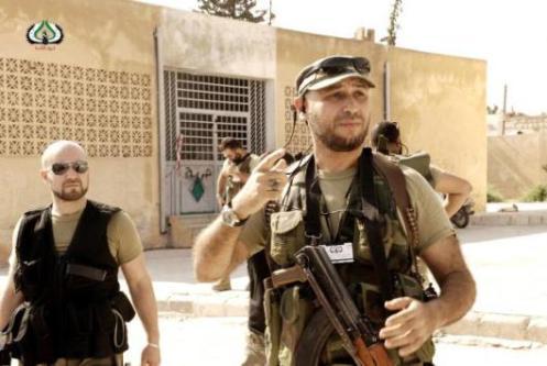 miembros de la resistencia siria