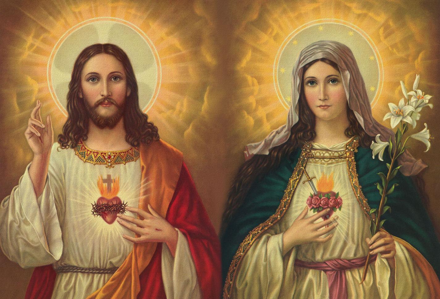 Sagrados corazones de jes s y mar a la uni n del amor for Are tattoos a sin catholic