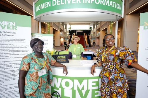 women deliver stand