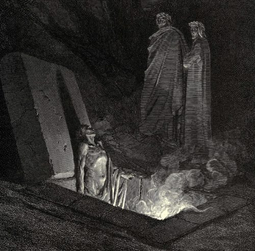 dibujo del infierno doré