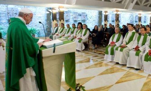 misa de francisco en santa marta