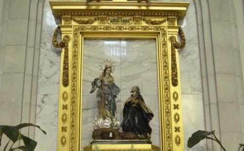 Cuadro de la Virgen de los Lirios de Alcoy