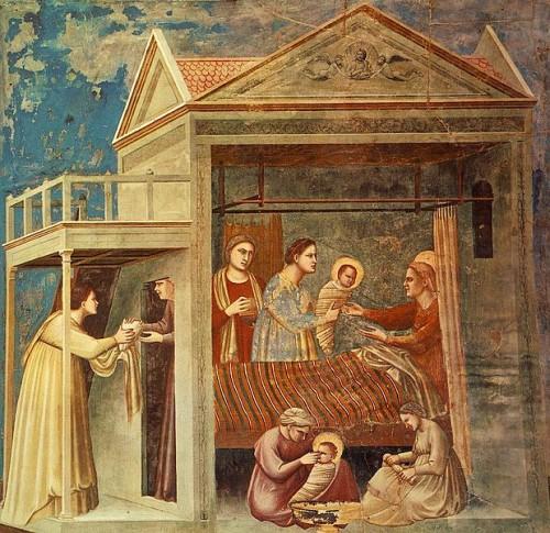 Giotto nacimiento virgen maria