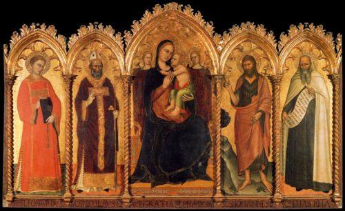 La Madonna y el Niño de Andrea Da Firenze