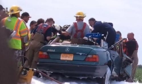 rescate de un accidente de auto