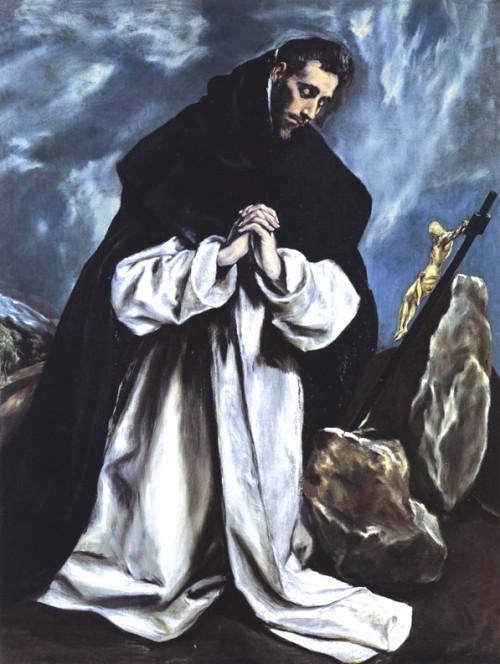 santo domingo orando el greco