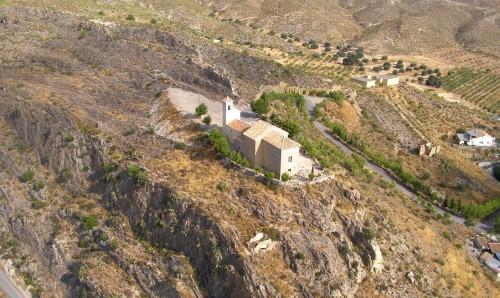 vista aerea de la ermita de Virgen de la Peña