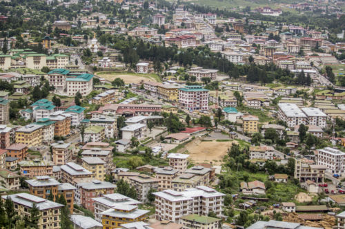 Bhutan's capital city has seen a great deal of development and expansion since the country opened up to the outside world in 1975. Increased migration from rural areas has also seen a rise in the urban population. Thimphu Bhutan. (move this one up)