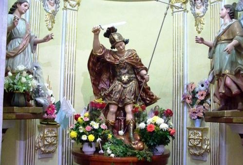 San Miguel del Milagro en la iglesia de Tlaxcala