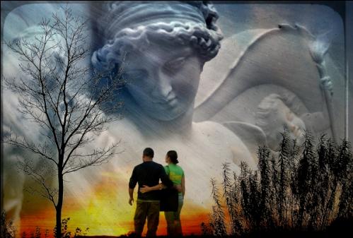angel guardian y una pareja