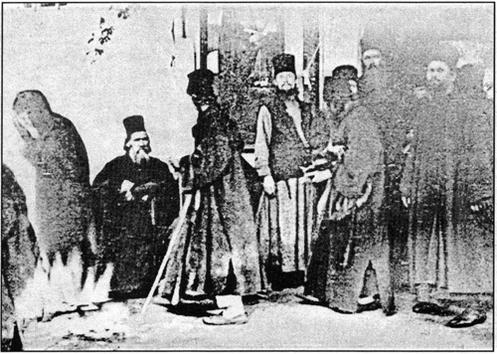 foto original de la aparicion de maria en el monte athos