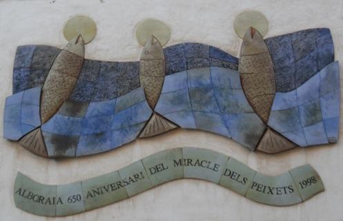 placa del milagro de los peces de alboraya