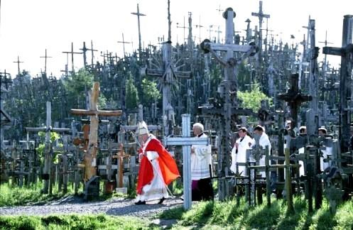 juan pablo ii en colina de las cruces