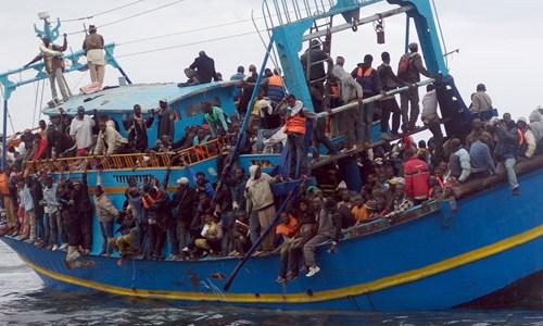 migrantes a lampedusa