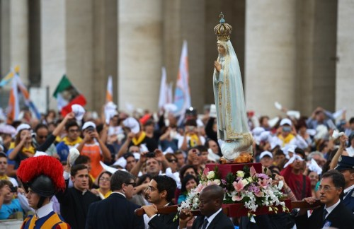 imagen de virgen de fátima en el vaticano