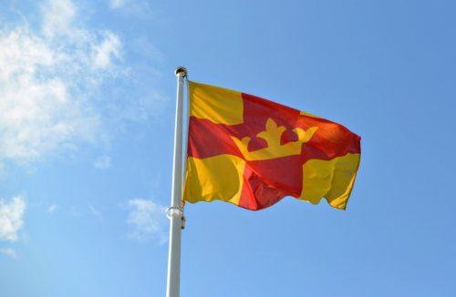 Bandera de la Iglesia Luterana de Suecia