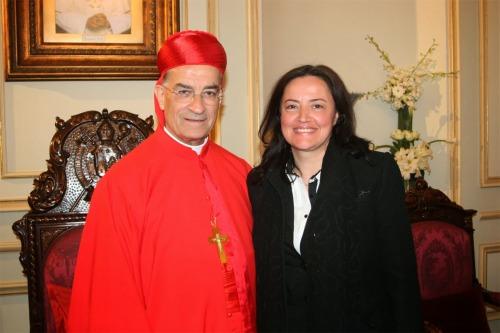 Myrna e Patriarca Rai