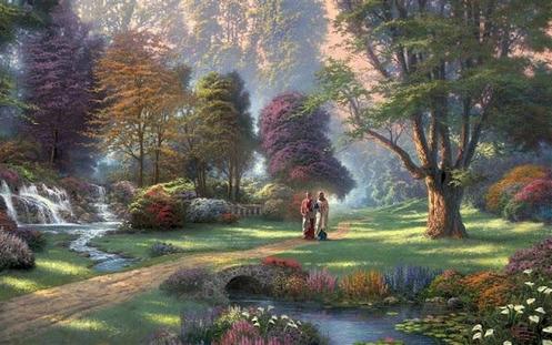 jesus-caminando-tierras-del-paraiso