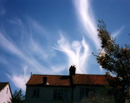 nube con forma de angel