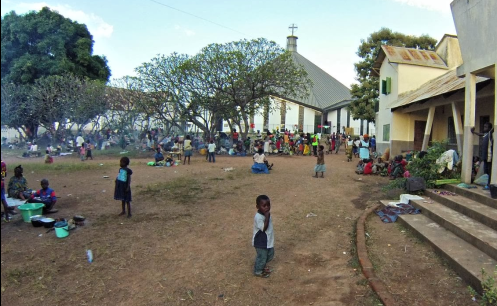 refugiados cristianos en parroquia centroafricana