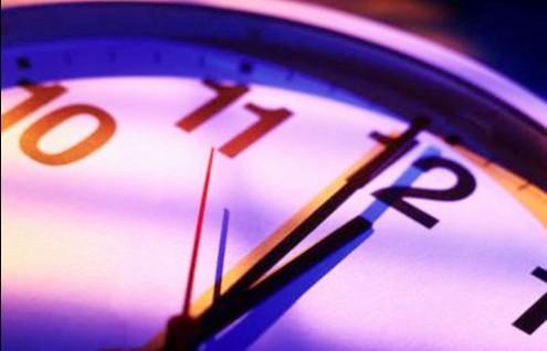 reloj casi dando las 12
